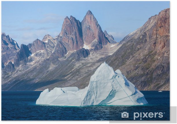 Poster Iceberg dans le chrétien son Prince, Groenland - Europe