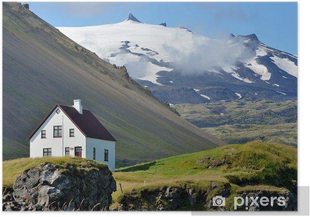 Iceland - Snæfellsjökull volcano and glacier Poster - Mountains