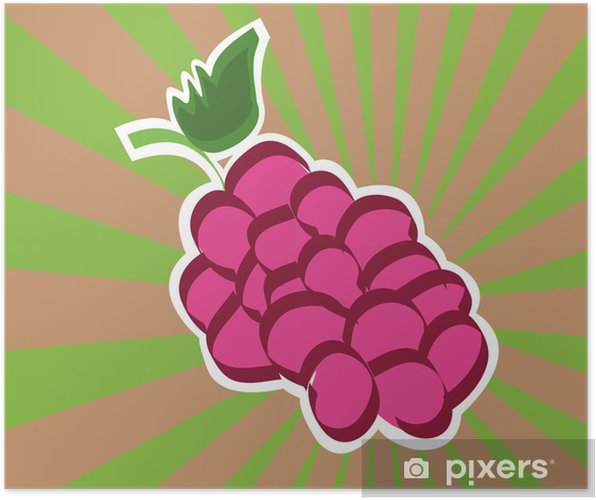 Poster Icône BlackBerry - Fruits