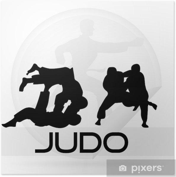 Poster Icône du judo - Sports extrêmes
