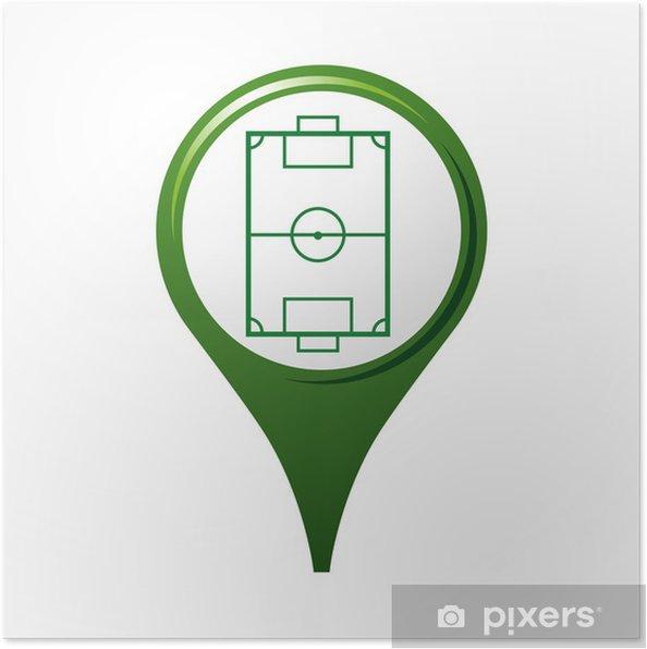 Poster Icône, symbole, logo, football - Vente