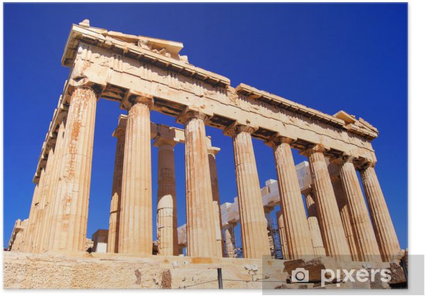Poster Iconic Athènes repère Le Parthénon, en Grèce - Thèmes