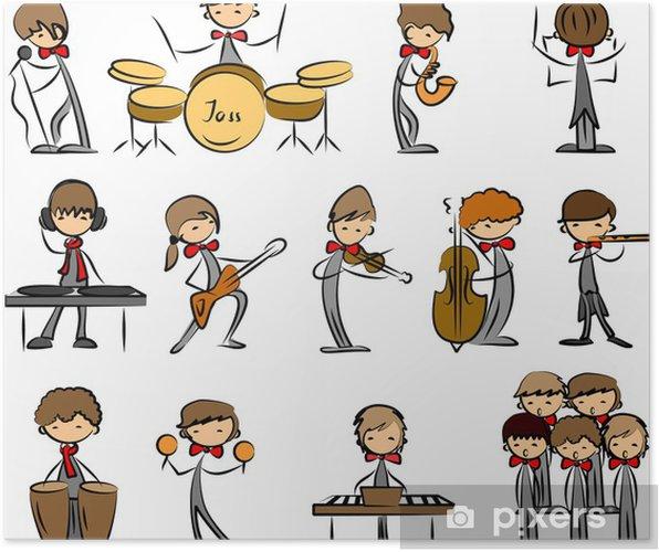 Póster Iconos de la música conjunto de vectores - Entretenimiento