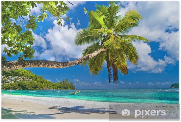 Póster Idílico paisaje tropical - Seychelles - Temas