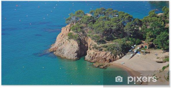 Poster Idyllische Badebucht an der Costa Brava Lloret de Mar bei - Europe