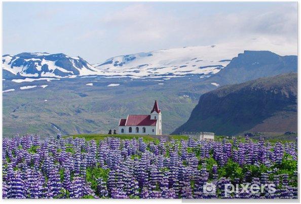 Póster Iglesia de las Montañas y Altramuces - Agricultura