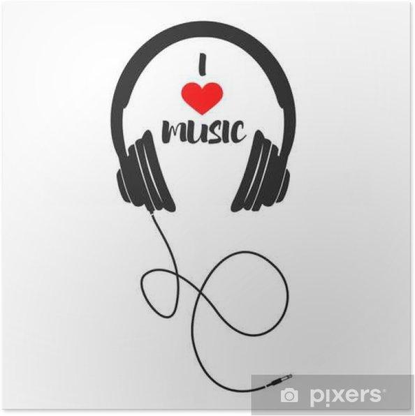 Poster Ik houd van muziek - Grafische Bronnen