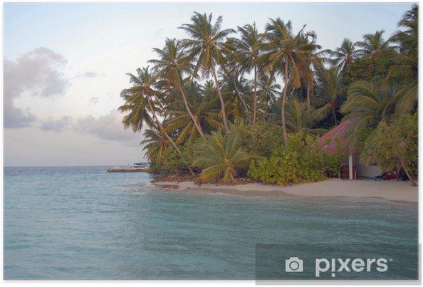 Poster Île de Biyahdoo aux Maldives - Asie
