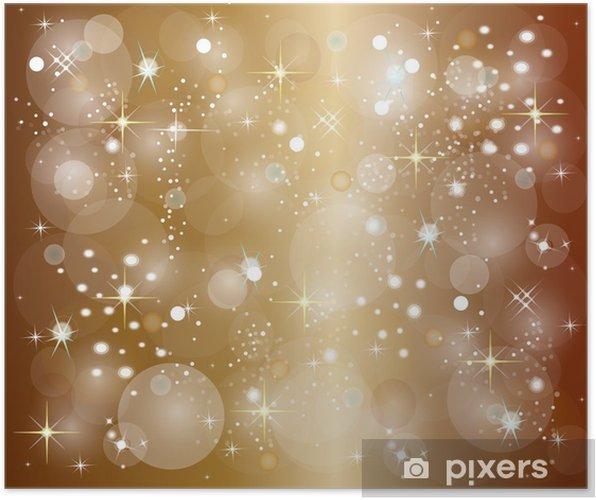 Poster Illustratie Van Een Gouden Kerst Achtergrond Pixers We