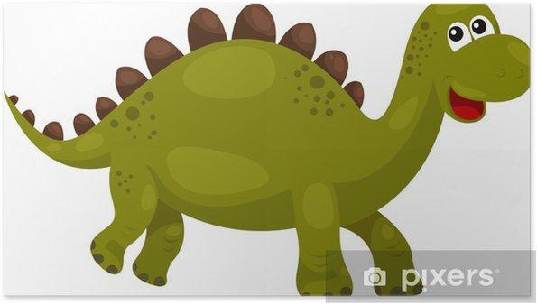 Poster Illustration de Dinosaur Stegosaurus - dino - Animaux imaginaires