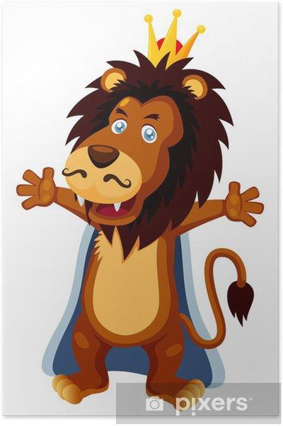b0d6e5da0daf0 Poster Illustration de vecteur de dessin animé Le Roi Lion • Pixers ...