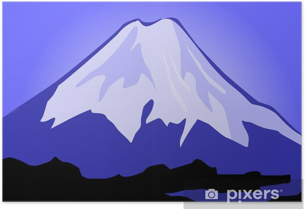 Illustration of the cliffs of mount Everest Poster - Wonders of Nature