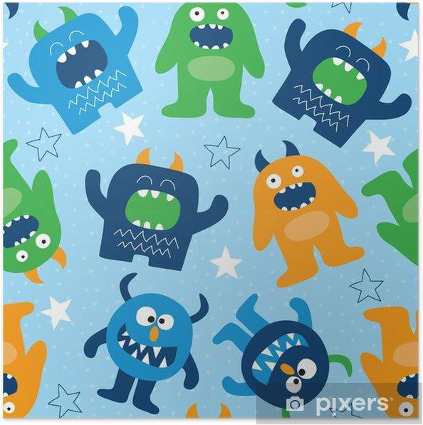 Poster Illustration vectorielle de monstre transparente - Animaux
