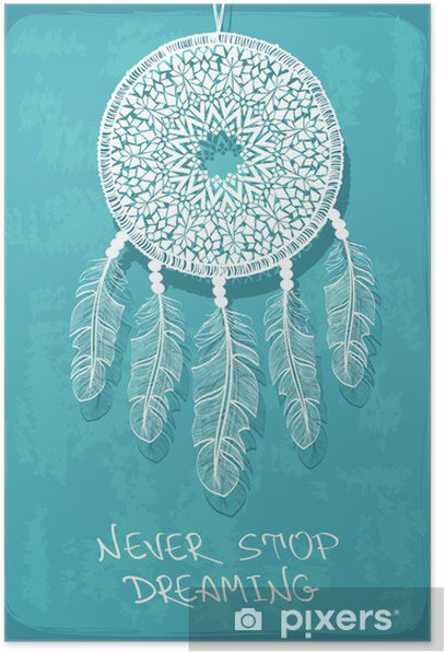 Illustration with tribal dreamcatcher Poster - National Events