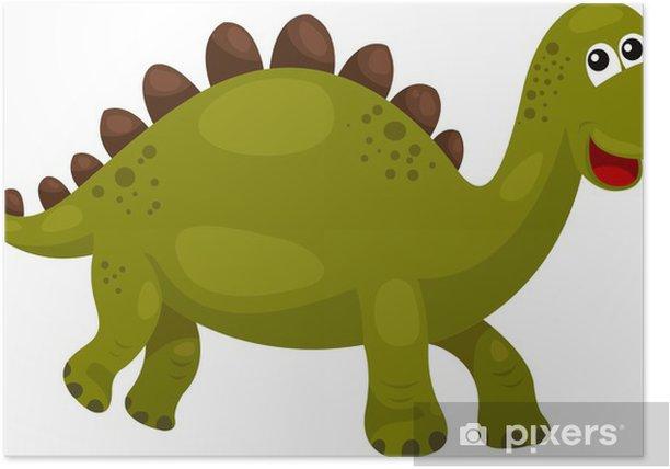 Póster Ilustración de Dinosaurio Stegosaurus - dino - Animales fantásticos