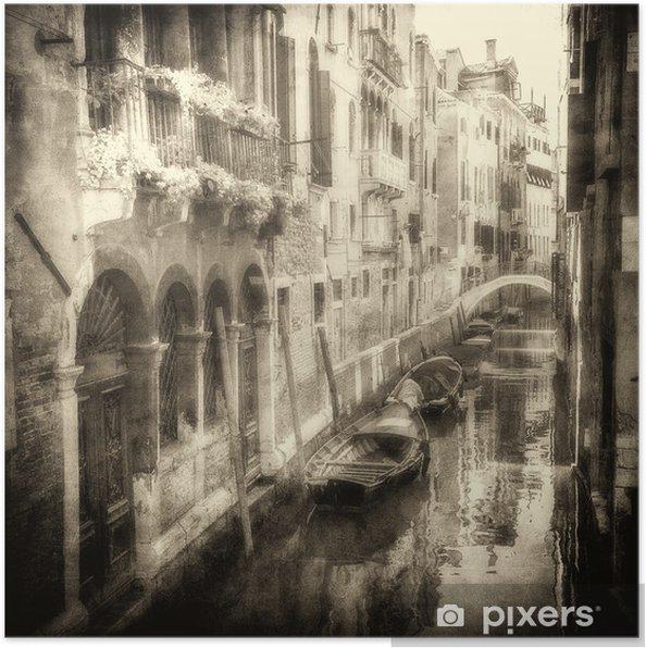Poster Image de cru des canaux vénitiens - Thèmes