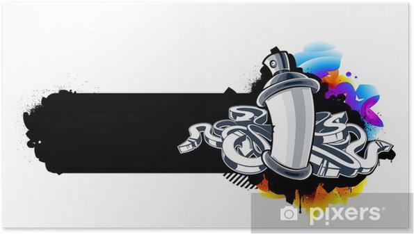 Poster Image de graffitis du possible avec des flèches - Abstrait