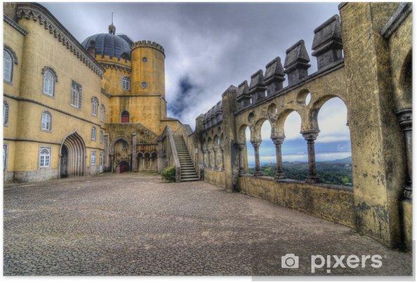 Poster Image HDR du Palais de Pena, Sintra - Europe