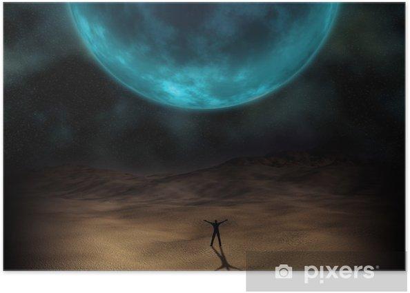 Poster Image surréaliste de planète - Espace