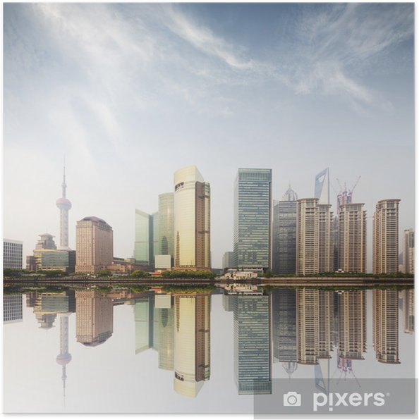 Poster Immeuble De Bureaux Moderne A Shanghai Pixers Nous