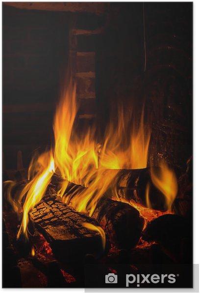 Poster Incendie dans une cheminée - Thèmes