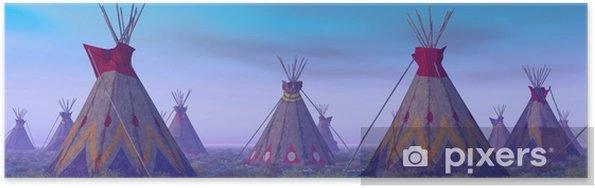 Poster Indian Camp at Dawn - Levensstijl