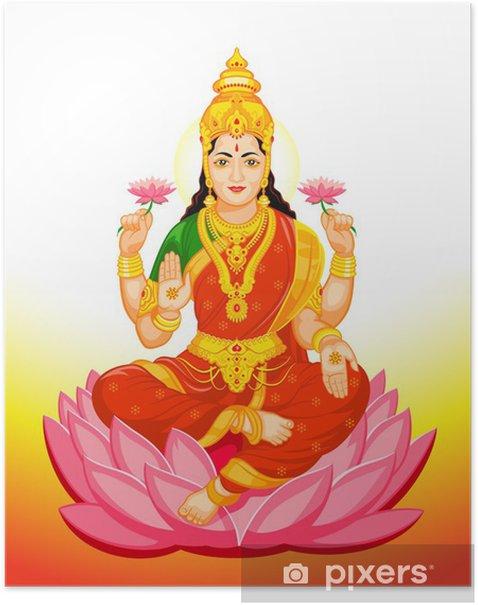 Indian Goddess Lakshmi Poster -