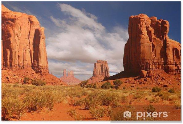 Poster Inramat Liggande Bild av Monument Valley - iStaging