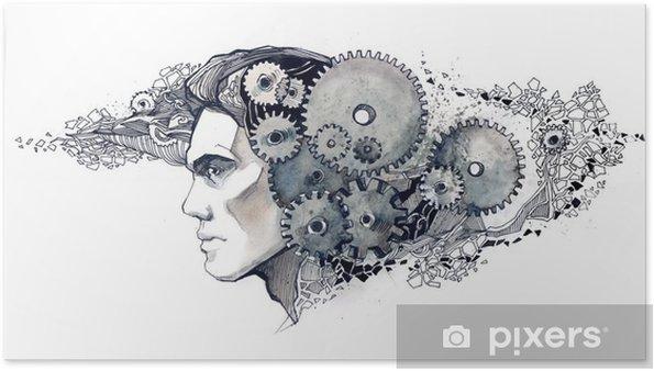 Poster Intelligentie mechanica - Muursticker