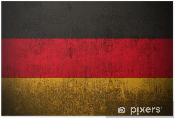 Poster Intempéries drapeau de l'Allemagne, tissu texturé -