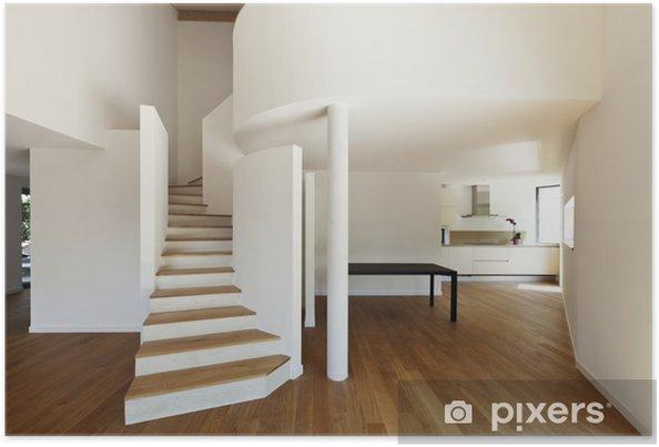Poster Interieur De La Maison Moderne Grand Espace Ouvert Pixers