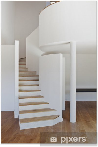 Poster Interieur Maison Moderne Escalier Parquet Pixers Nous