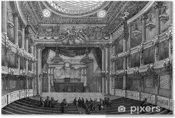 Poster Interieur: Theater 17e eeuw - View 19e eeuw - Openbare Gebouwen