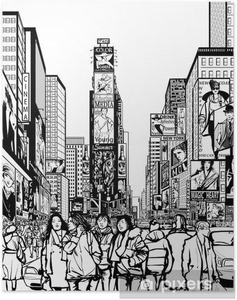 Poster Interprétation de Times Square à New York - Infrastructures