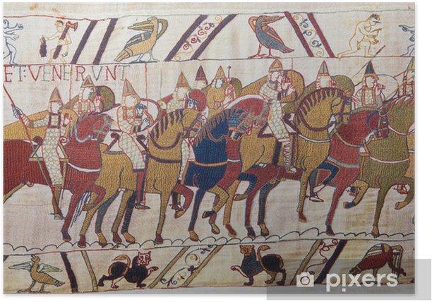 Póster Invasión normanda de Inglaterra - Tapiz de Bayeux - Europa