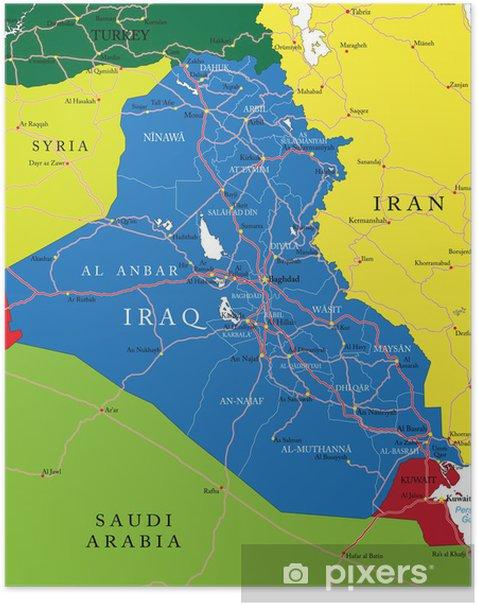 Iraq map Poster