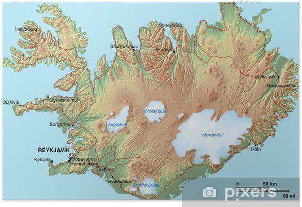 Side T303274rkei Karte.Karte Island