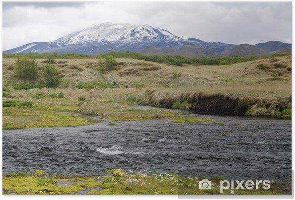 Poster Islandais Hekla volcan - Europe