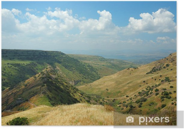 Poster Israël parc national Gamla forteresse au Hights Golan - symbo - Moyen Orient