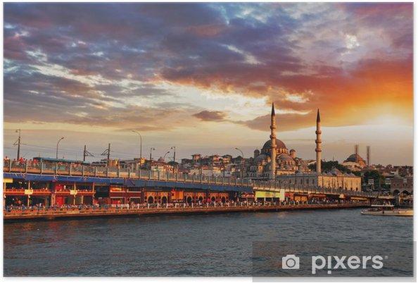 Poster Istanbul bij zonsondergang, Turkije - iStaging
