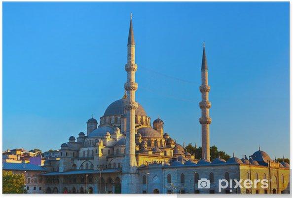 Poster Istanbul coucher du soleil - Vacances