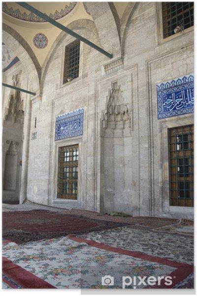 Poster Istanbul - Mosquée Sokollu, cour à colonnades ouverte - Religion