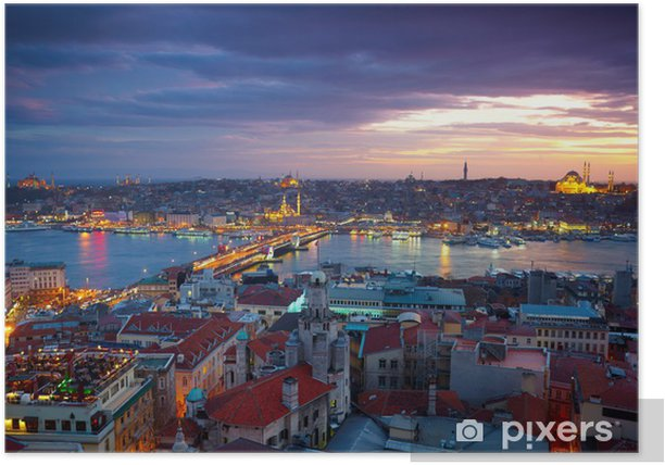 Istanbul Sunset Panorama Poster - Themes