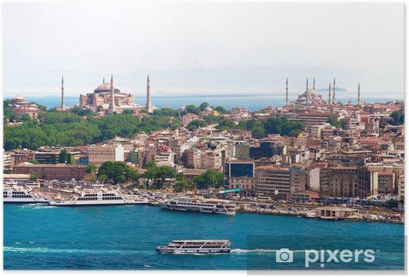 Poster Istanbul, Türkei, Blaue Moschee, Hagia Sofia - Thema's