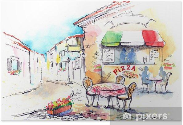 Italy Poster - Restaurant