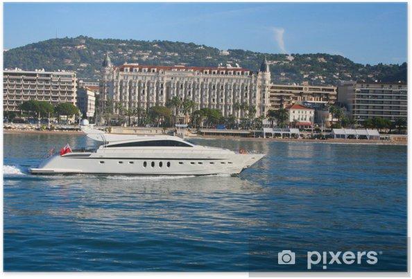 Poster Jacht in de baai van Cannes - Boten