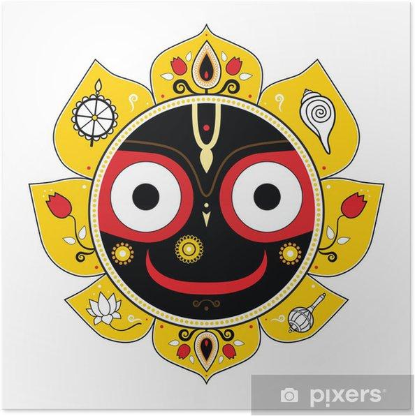 Póster Jagannath. Dios indio del Universo. - Religión