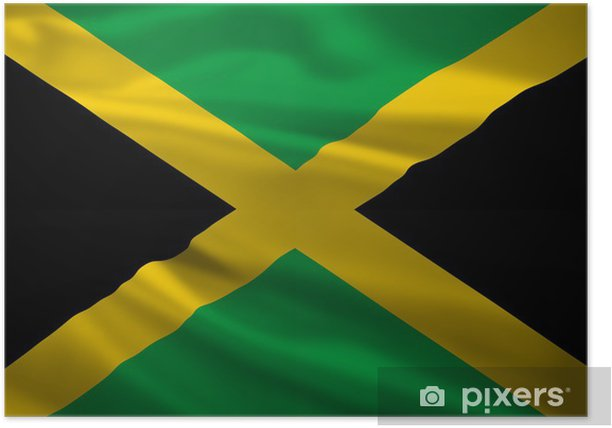 Jamaica flag blowing in the wind Poster - Themes