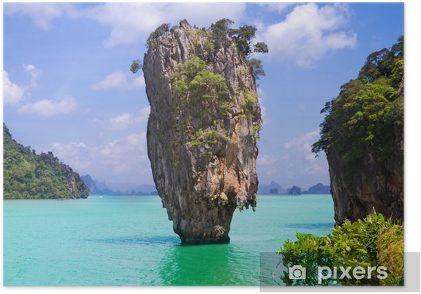 James Bond island in Thailand Poster - Holidays