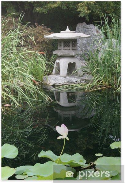 Poster Japanese garden - Monuments